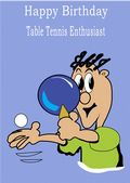 Table Tennis-Happy Birthday 1